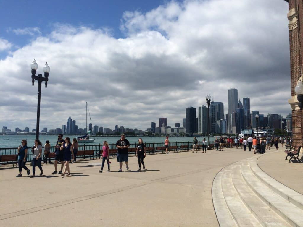 Aussicht vom Navy Pier in Chicago
