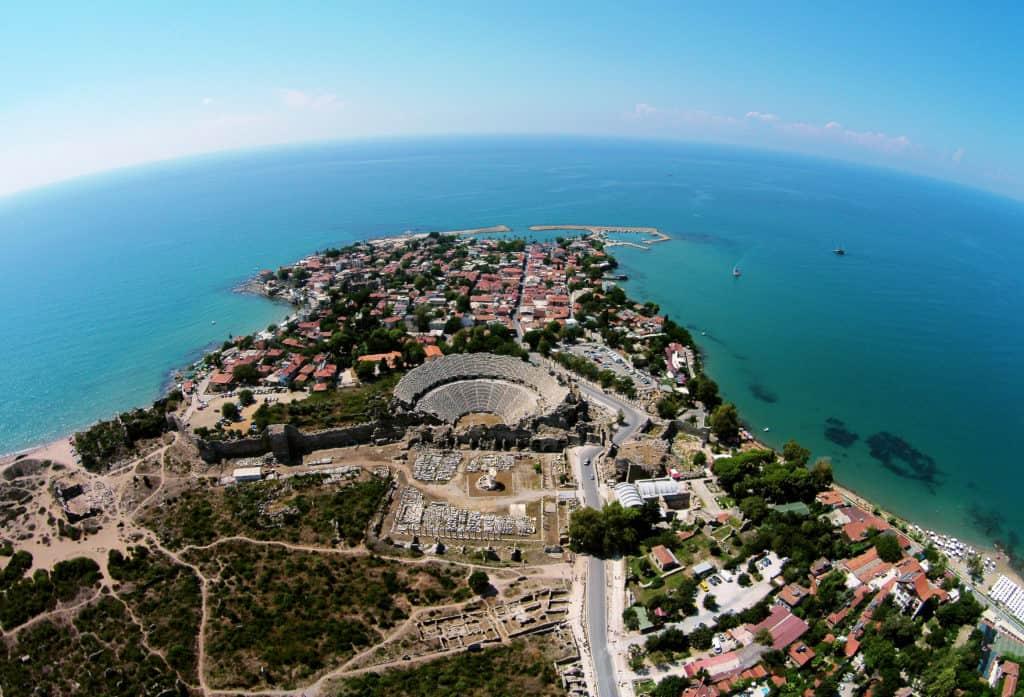 Side, Türkei, Urlaub, FernwehElixir, Halbinsel mit Amphitheater